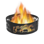 36 in. Round x 12 in. High Northern Woods Decorative Steel Fire Ring