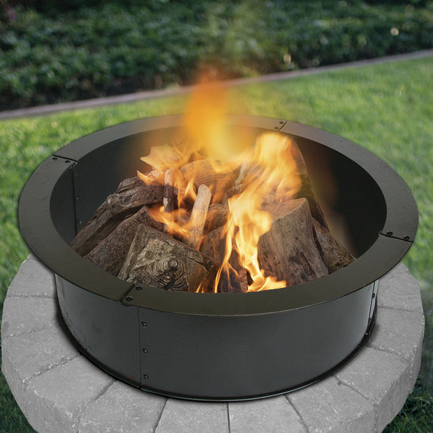Heavy Gauge 36 in. Round x 10 in. High Fire Ring