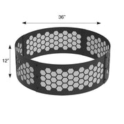 Heavy Gauge 36 in. Round x 12 in. High Honeycomb Decorative Steel Fire Ring