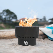 Oklahoma Sooners Portable Fire Pit