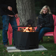 The Peak Patio Fire Pit with Spark Screen and Fire Poker
