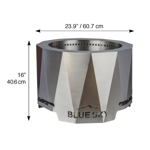 The Peak Stainless Steel Patio Fire Pit - Blue Sky Outdoor ... on The Peak Patio Fire Pit id=89093