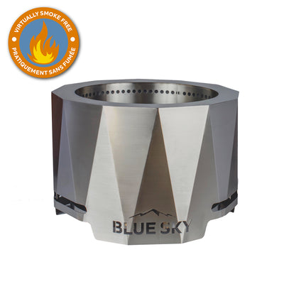 The Peak Stainless Steel Patio Fire Pit