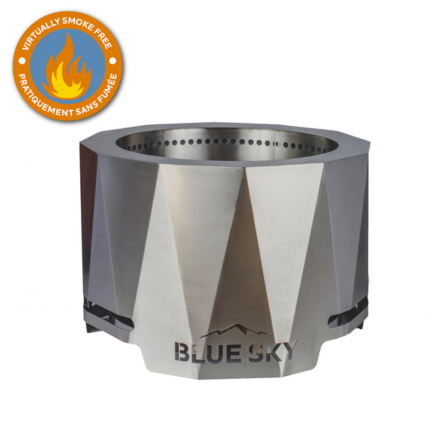The Peak Stainless Steel Patio Fire Pit - Blue Sky Outdoor ... on The Peak Patio Fire Pit id=81753