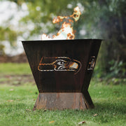 Seattle Seahawks Badlands 29.5 in. Square Fire Pit
