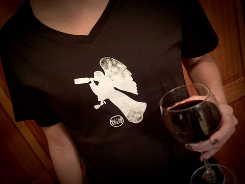 Women's Drinking With An Angel T-Shirt
