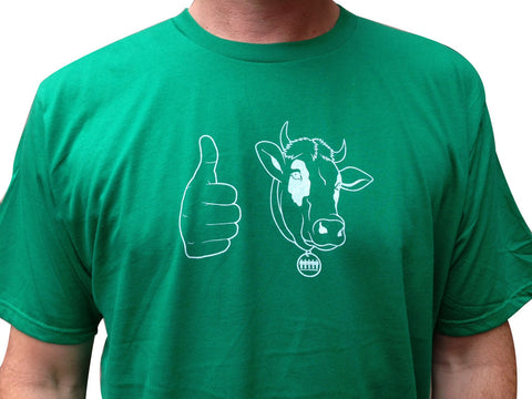 Men's Cow T-Shirt / Kelly Green