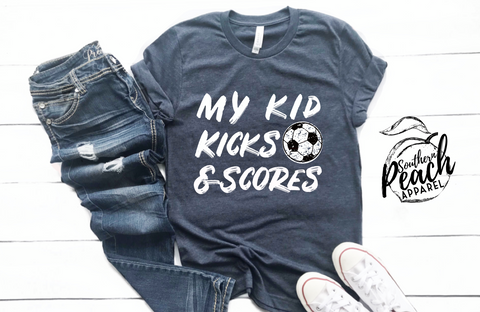 MY KID KICKS & SCORES