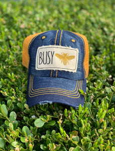 MUSTARD BUSY BEE HAT