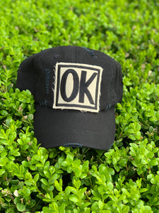 BLACK OK HAT