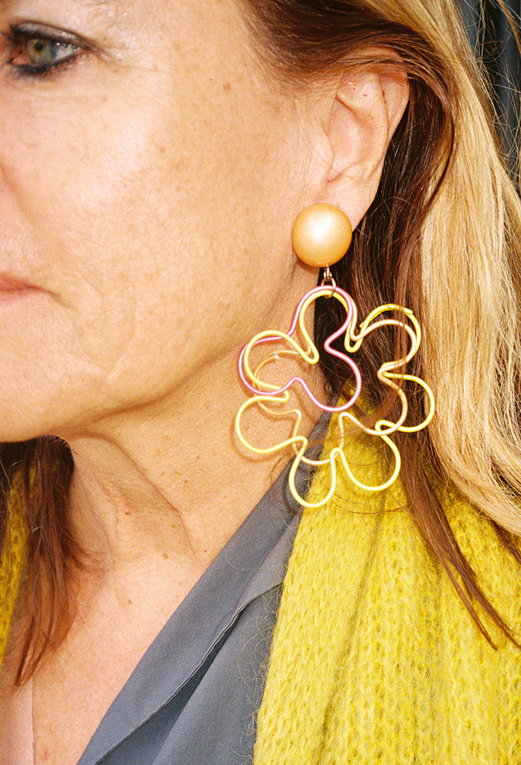 1960s Flower Earrings