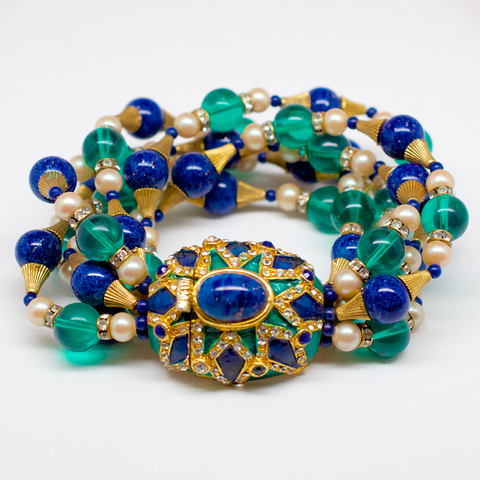 Mimi di N Beaded Bracelet with Cabochon Adorned Clasp