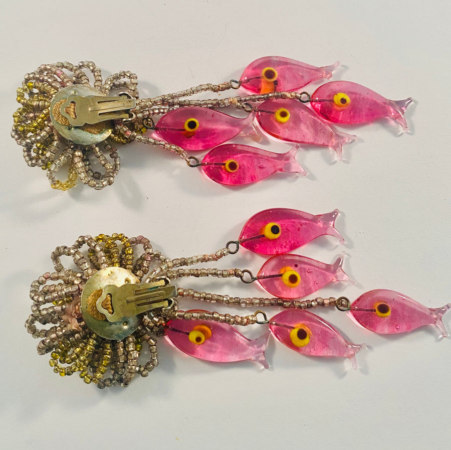 French Fish Earrings