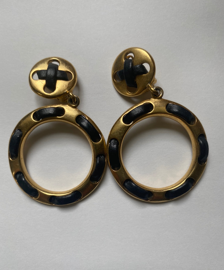 Les Bernard 1960's hoop earrings