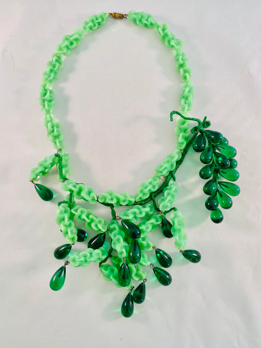 French Pate de Verre Necklace