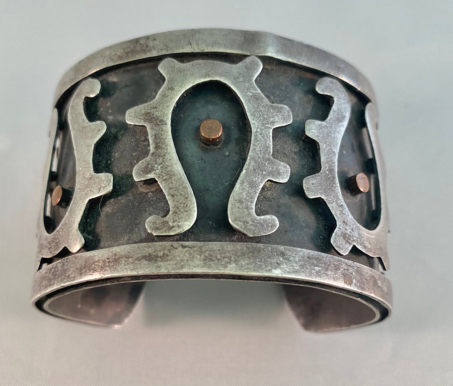 Los Costillo Metal Cut Out Detail Cuff Bracelet