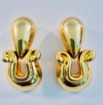 Patricia Von Muselin gold gilt silver earrings