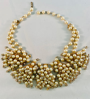 Fifties pearl wedding necklace