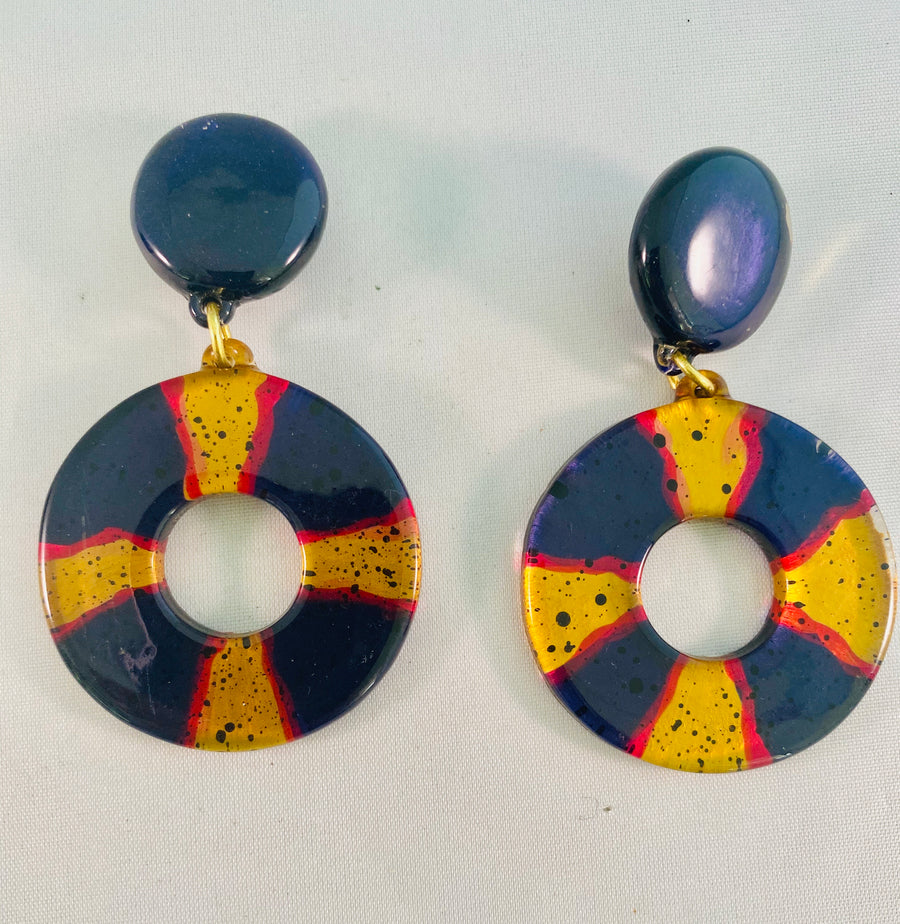 Lucite Vintage Earrings