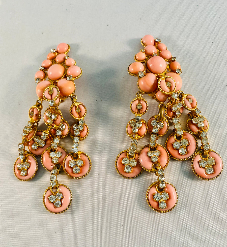 Chanel pate de Verre earrings 1950's