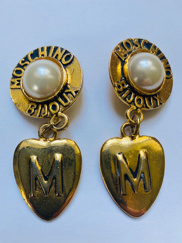 Moschino heart earrings