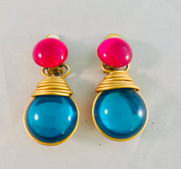 Lucite Earrings Vintage
