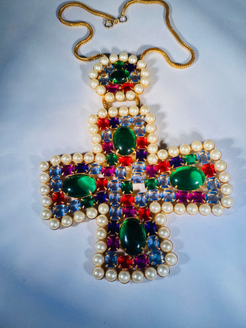Kenneth Jay Lane 1960's cross
