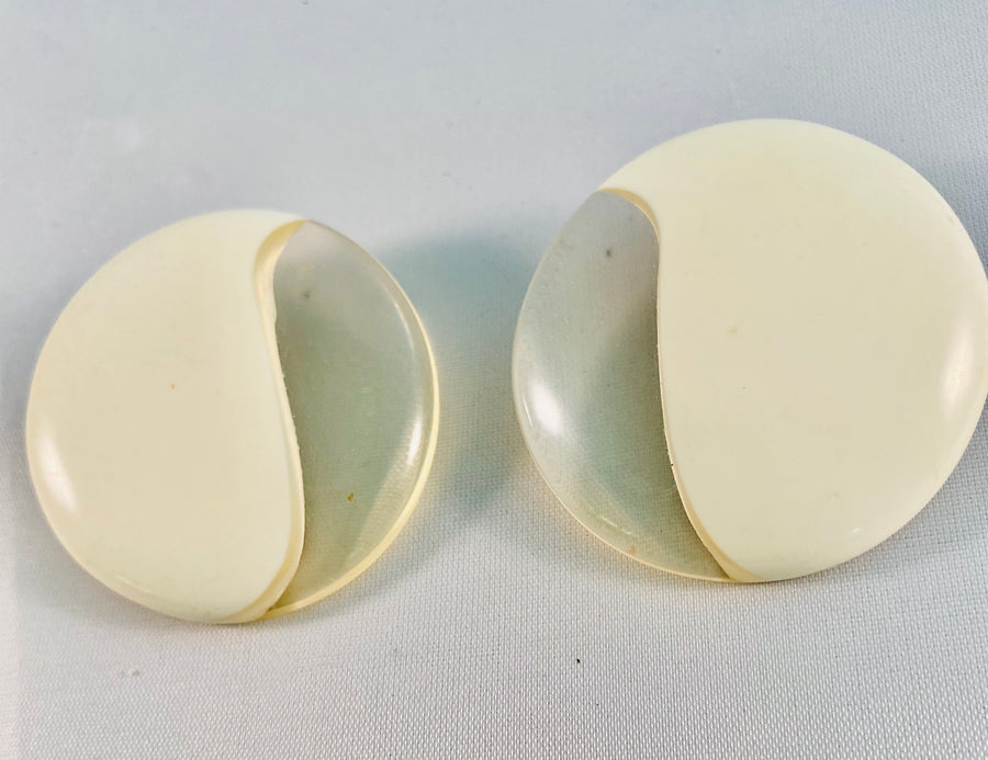 Vintage Lucite Earrings by Jim McCullough