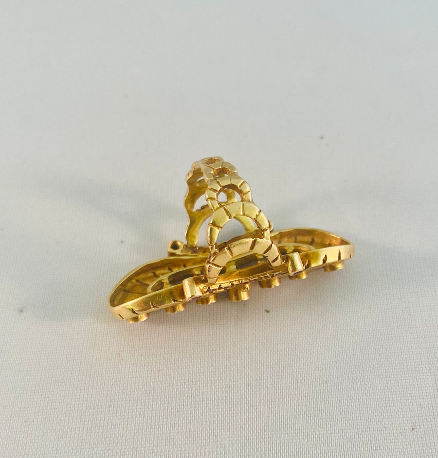 Gold and Ruby Cocktail Ring