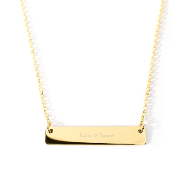 Bar Necklace - N A M E