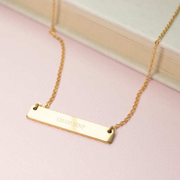 Bar Necklace - D A T E
