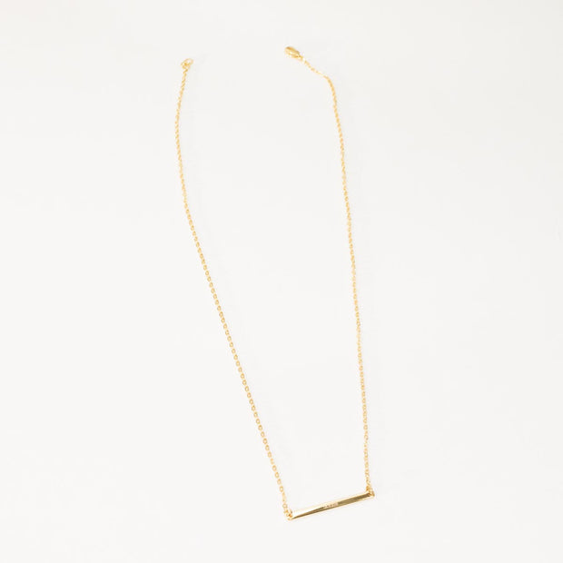 Skinny Bar Necklace - D A T E