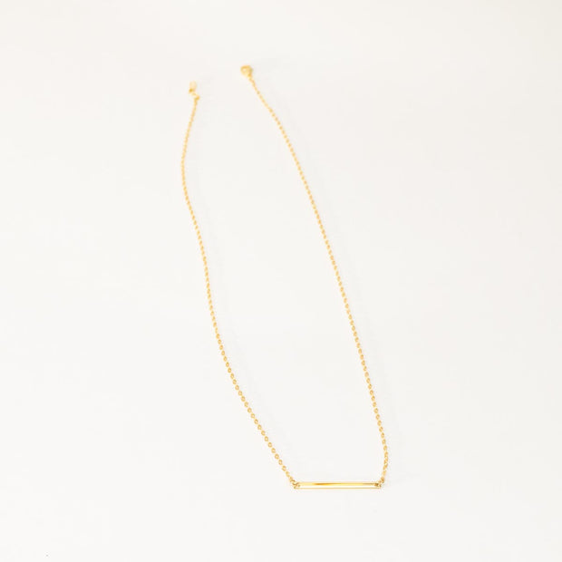 Skinny Bar Necklace - N A M E