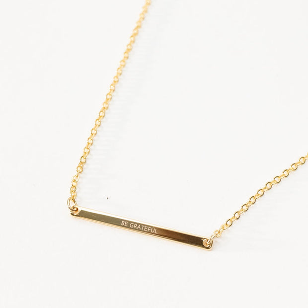 Skinny Bar Necklace - Q U O T E