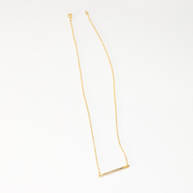 Skinny Bar Necklace - P L A C E