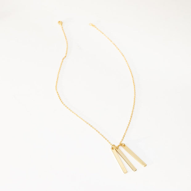 Triple Vertical Bar Necklace (Ambassador)