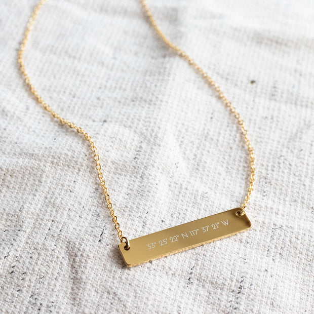 Bar Necklace - P L A C E (Ambassador)