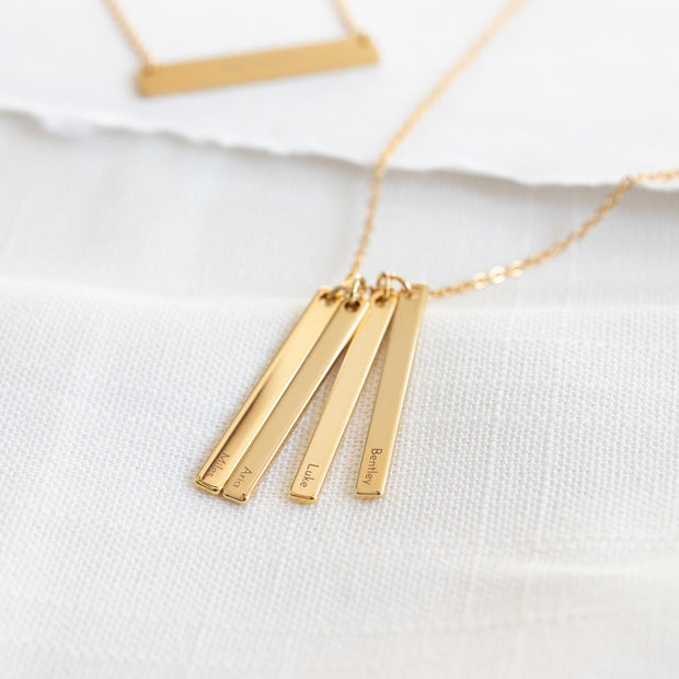 Quadruple Vertical Bar Necklace