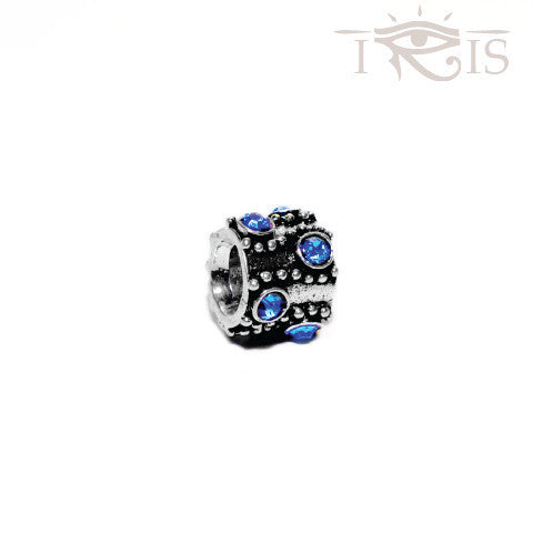 Dilpreet - Blue Crystal Tentacle Silver Filled Charm from IRIS