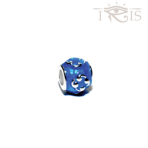 Marcella - Blue Enamel Cloud Atlas Silver Filled Charm from IRIS