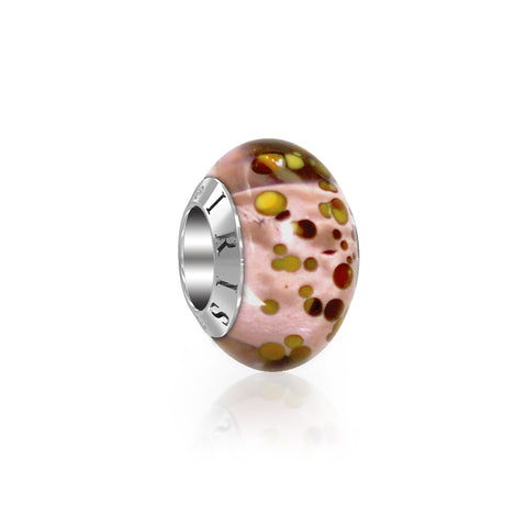 elizabeth pink spotted murano glass bead from iris