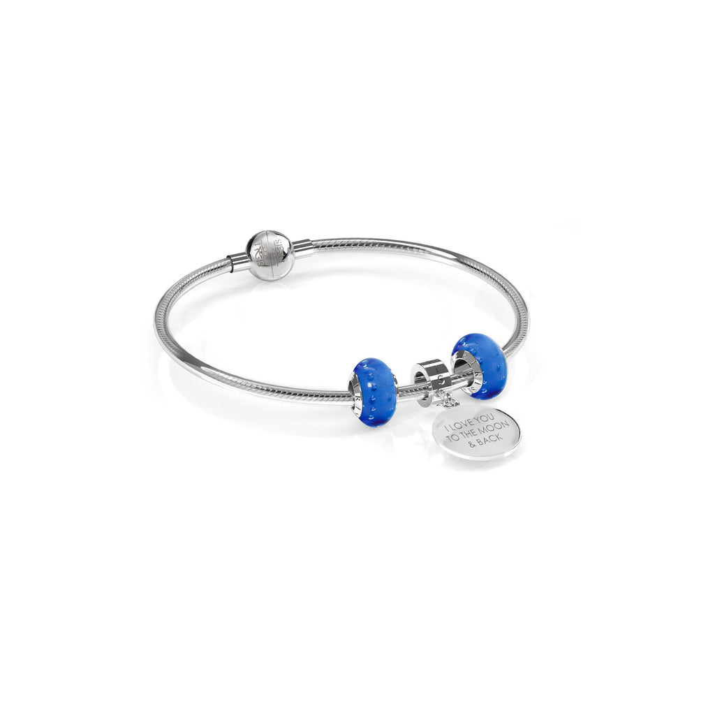 Deep Blue Engravables - Bead & Bracelet Set