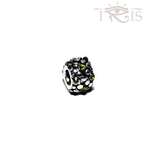 Melanie - Lime Crystal Grape Seed Silver Filled Charm from IRIS