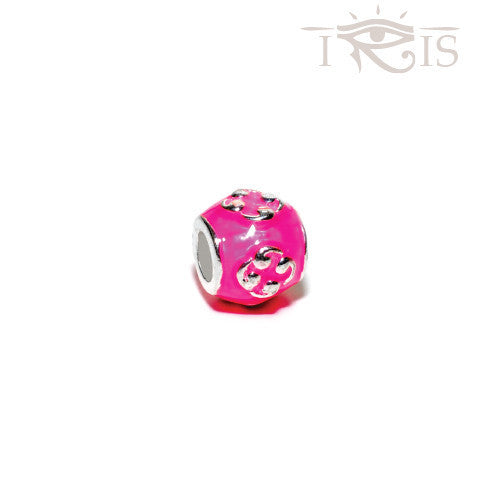 Mandy - Pink Enamel Cloud Atlas Silver Filled Charm from IRIS