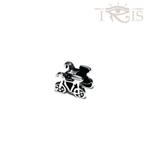 Bridget - Silvertone Bicycle Silver Filled Charm from IRIS
