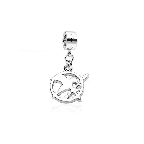 Fire Bird - Silvertone Catching Fire Rhodium Filled Charm from IRIS