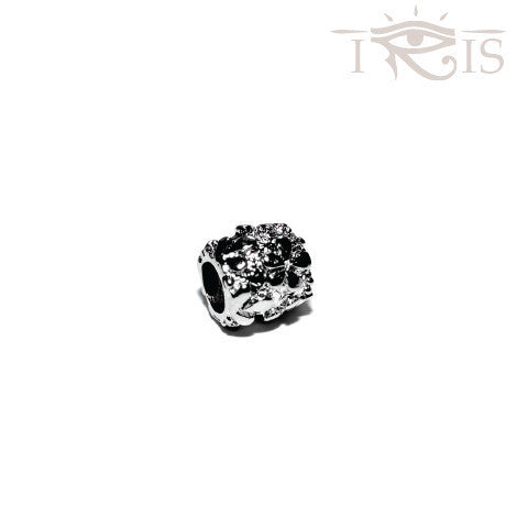 Alicia - Silvertone Daisy Garden Rhodium Filled Charm from IRIS