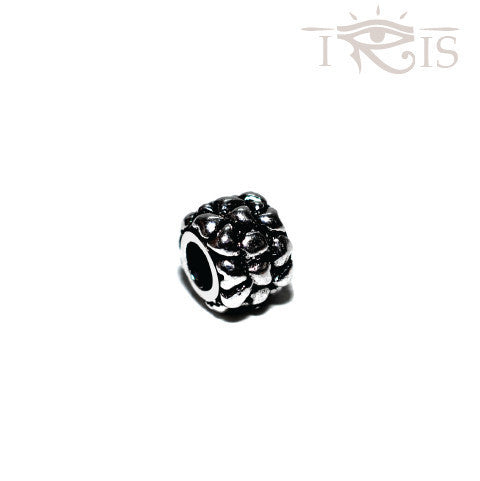 Renee - Silvertone Heart Flower Rhodium Filled Charm from IRIS