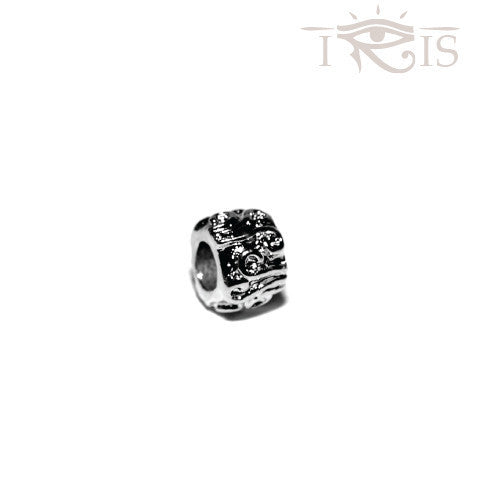 Anna - Silvertone Hurricane Swirl Rhodium Filled Charm from IRIS
