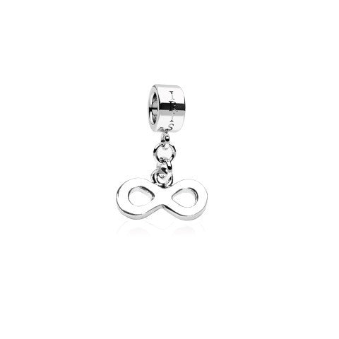 To Infinity - Silvertone Infinity Rhodium Filled Charm from IRIS